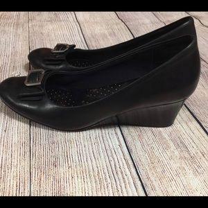 Rockport Adidas Black Wedge Shoes